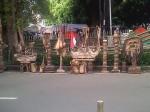 The Art 19 (side street statues)